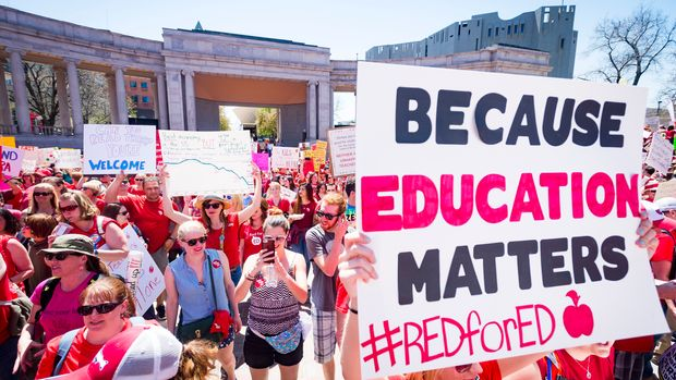 The widespread teacher protests that swept through states like Kentucky and