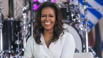 """FILE - In this Oct. 11, 2018, file photo, Michelle Obama participates in the International Day of the Girl on NBC's """"Today"""" show in New York. (Photo by Charles Sykes/Invision/AP, File)"""