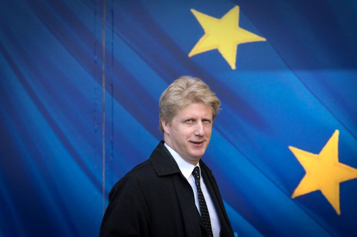 Jo Johnson visits the European Commission in Brussels on March 28, 2017. He has resigned as a minister in his brother's gover