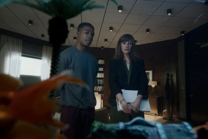 """Stephan James and Julia Roberts in """"Homecoming."""""""