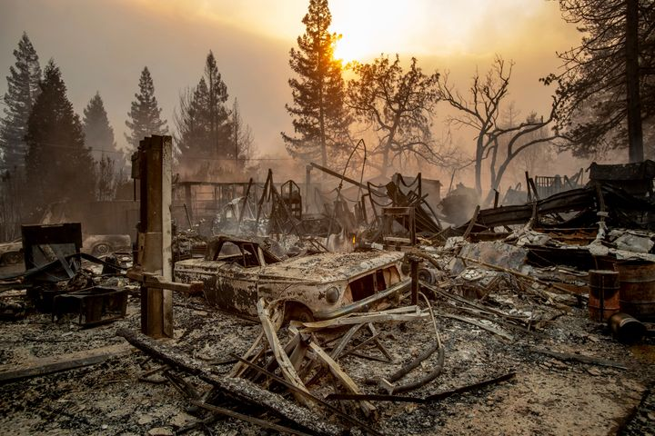 Five people have been reported dead from the Camp fire.