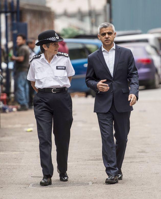 Cressida Dick, Metropolitan Police Commissioner, and Mayor of London Sadiq