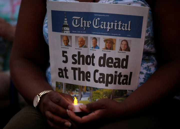 Five people were killed in the attack after police say the suspect, who had a long-standing grudge against the paper, opened fire in the Capital Gazette newsroom.