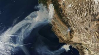 NASA's satellites have captured jaw-dropping photos of the California wildfires.