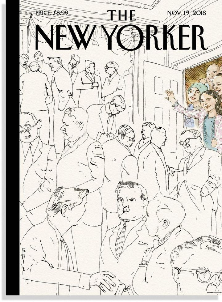 Artist Barry Blitt was inspired by the wave of women entering Congress in 2019.