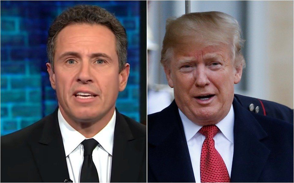 Chris Cuomo and Donald Trump