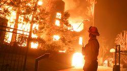 Cette photo montrant l'évacuation de Malibu, menacée par un incendie, devient