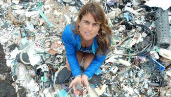 Sarah Jeanne-Royer found that ocean plastics can decay into greenhouse gases.