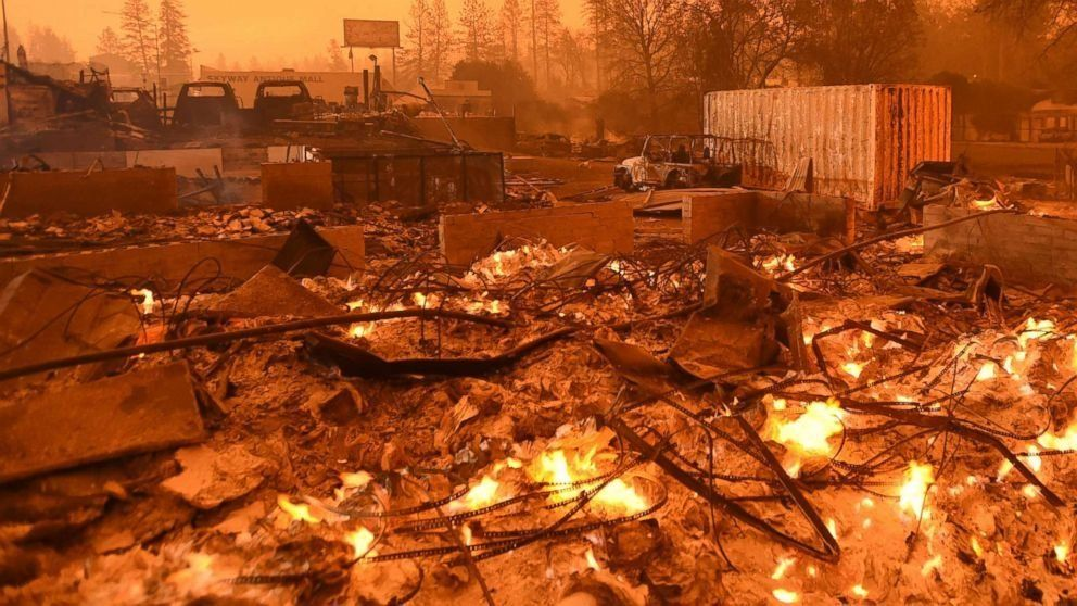 Death toll rises in raging California wildfire. (ABC News)