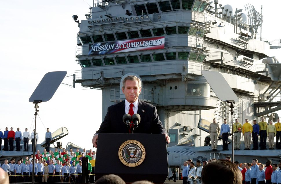 "<strong>Robinson says the banner ""imposed via computer programming overlay"".</strong>"