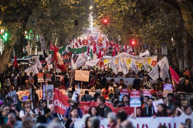 Μεγάλη διαδήλωση στη Ρώμη κατά του αντιμεταναστευτικού