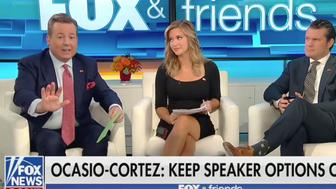 Ed Henry responds to criticism that he money-shamed Ocasio-Cortez.