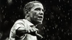 Twitter Pelts Trump With Photos Of Obama In The Rain After He Ditches Cemetery