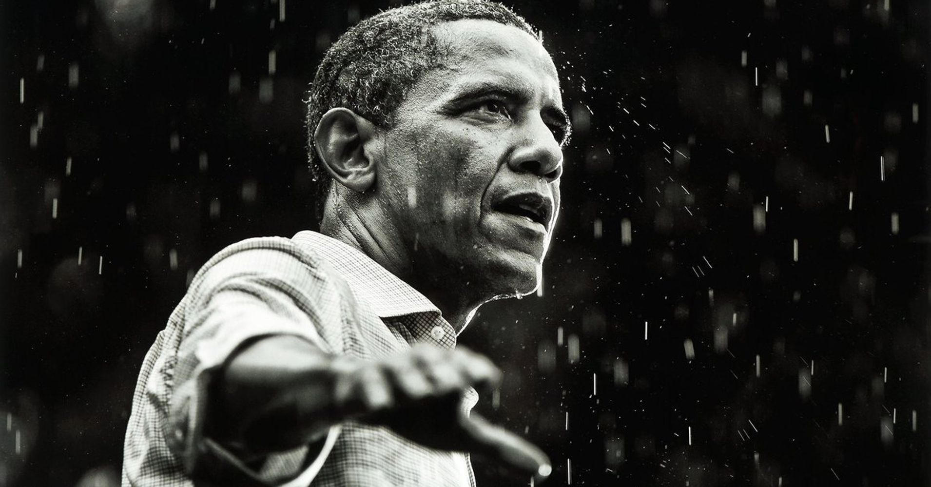 Twitter Pelts Trump With Photos Of Obama In The Rain After President