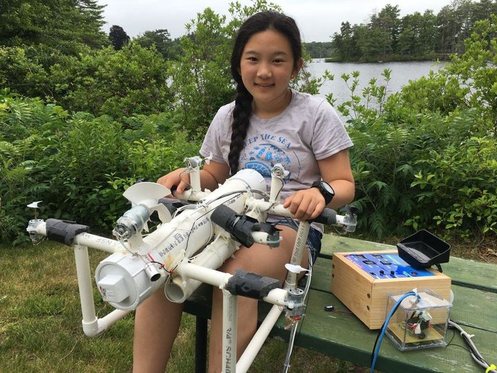Anna Du and her plastic-hunting ROV.