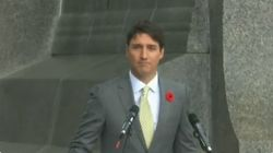 Armistice de 14 18: ce discours de Trudeau sous la pluie très partagé en réponse à la visite annulée de