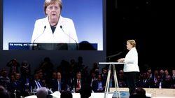 Weltkriegsgedenken: Merkel warnt mit Seitenhieb vor Trumps