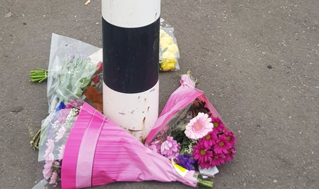 Tributes left at the scene where three adults and a one-year-old child died in a car crash following a police pursuit in the Darnall area of Sheffield on Friday evening.