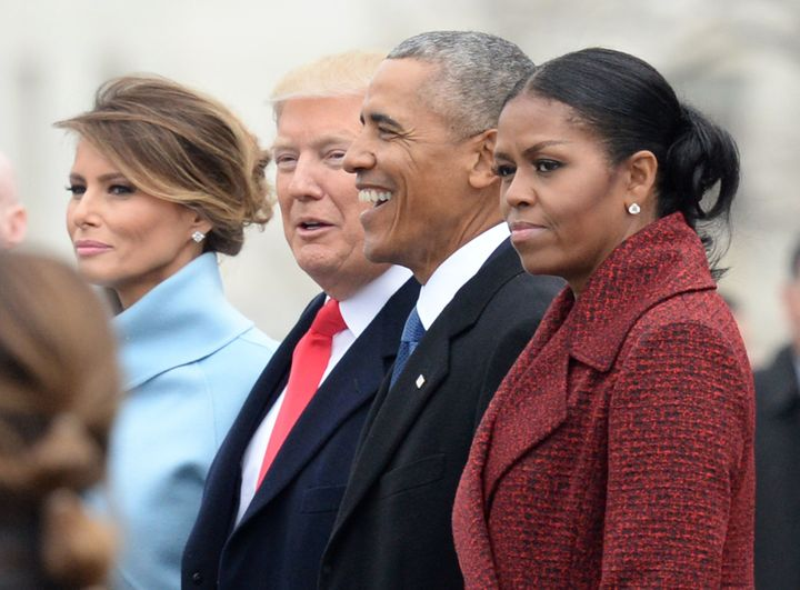 """""""I stopped even trying to smile,"""" Obama said."""