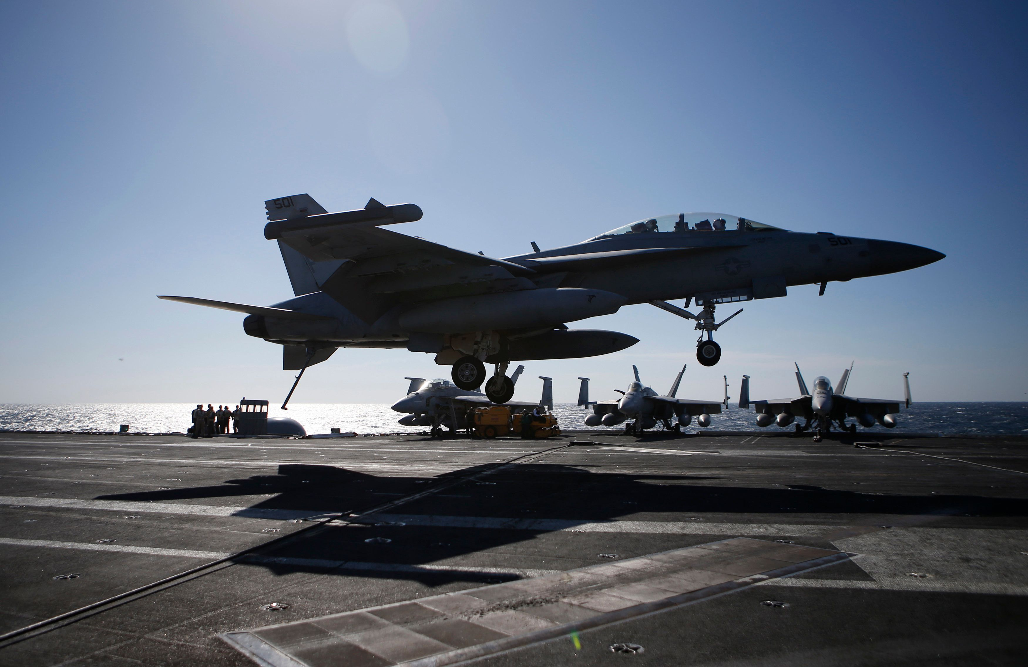 U.S. Navy Warplane Crashes Into The Sea Northeast Of The