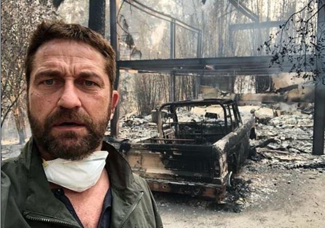 Οι σταρ δείχνουν τις επαύλεις τους που έγιναν στάχτη στην πυρκαγιά της
