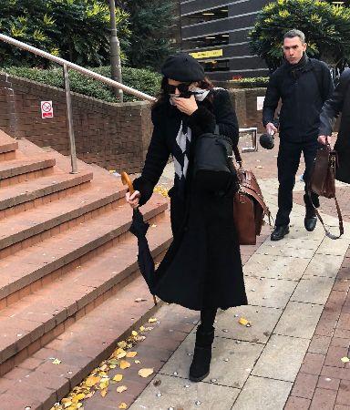 Patatas leaving Birmingham Crown Court on