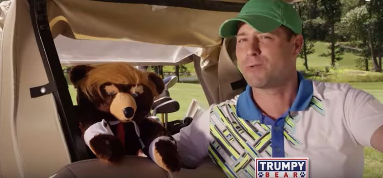 Screenshot from Trumpy Bear commercial