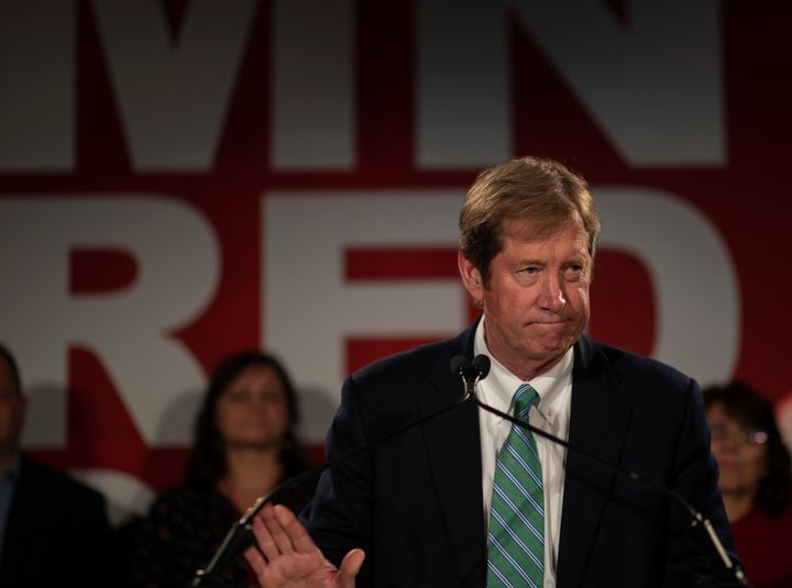 Minnesota Rep. Jason Lewis delivers a concession speech after losing his House seat to Democrat Angie Craig last week.