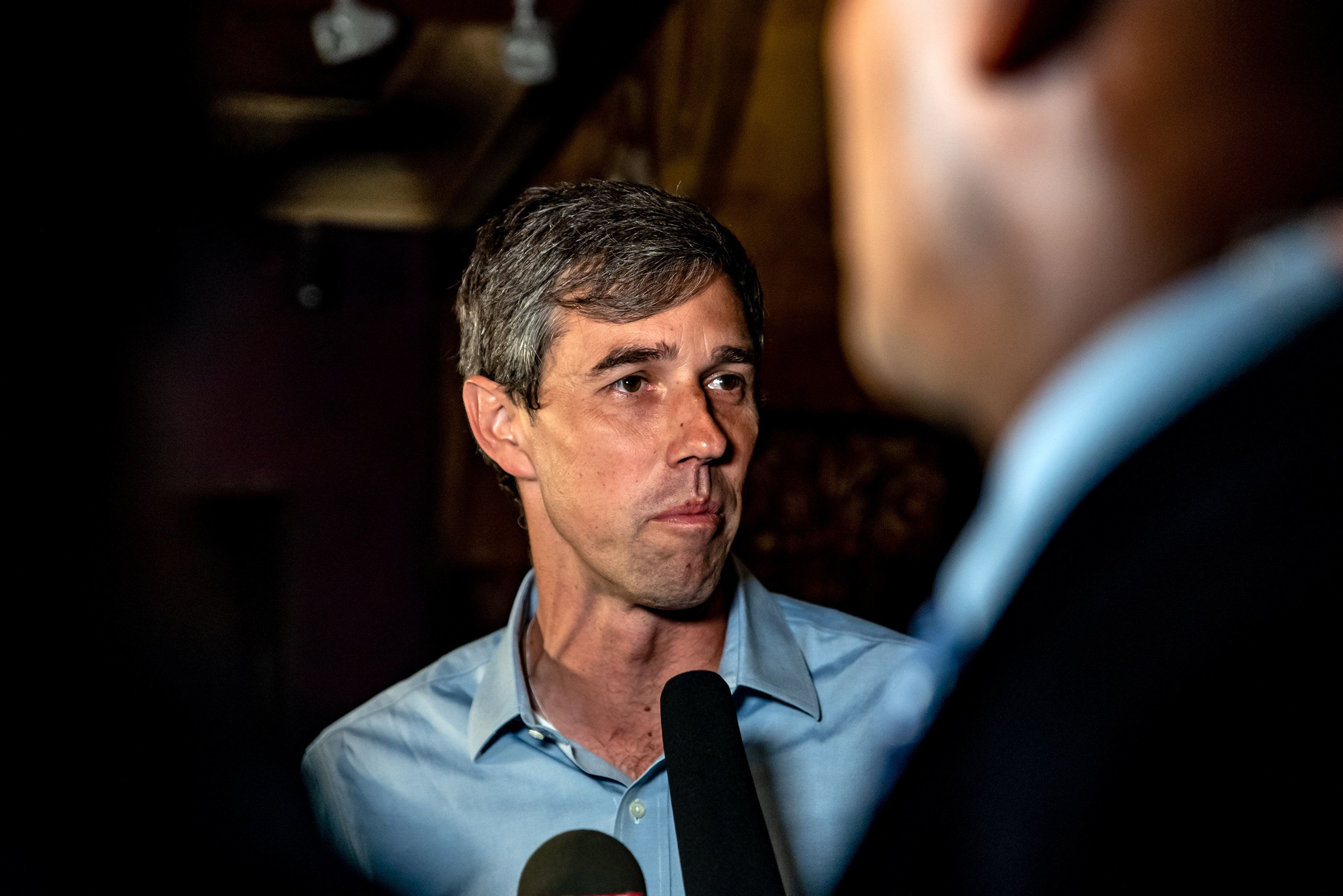Beto O'Rourke, Democratic candidate for the U.S. Senate, speaks to a member of the media before a campaign rally in Houston, Texas, U.S., on Monday, Nov. 5, 2018. Surging turnout has both Republicans and Democrats proclaiming they stand to benefit, as polls show tight races up and down the ballot that will determine control of Congress, state houses and governors mansions nationwide. Photographer: Sergio Flores/Bloomberg via Getty Images