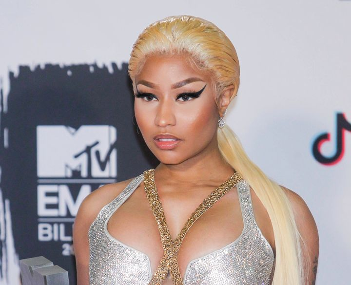 Nicki Minaj attends the European Music Awards.