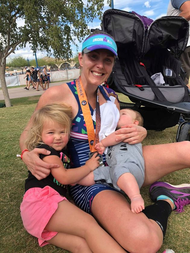 Air Force Mom Pumps Breast Milk While Running An Ironman