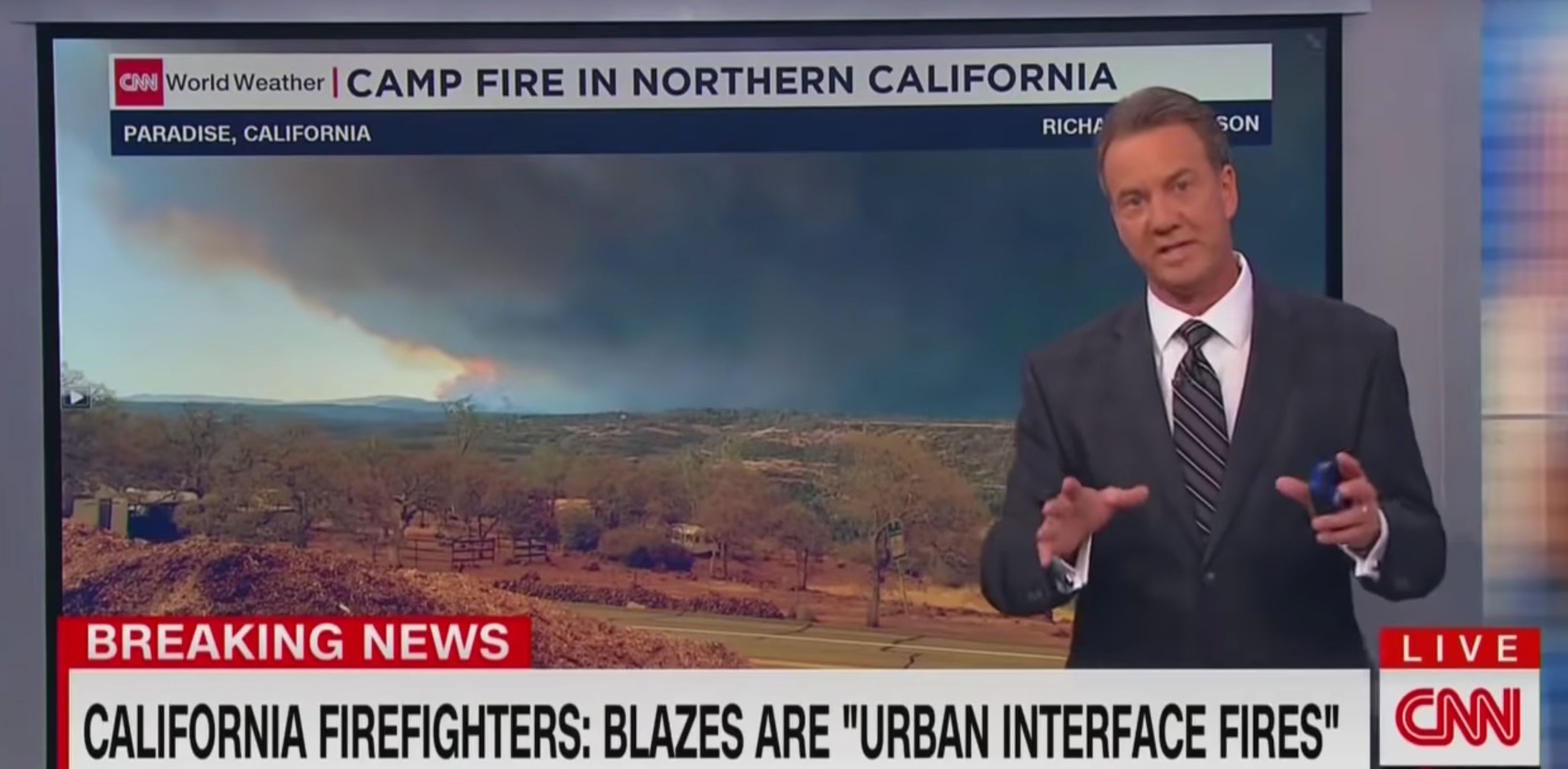 CNN meteorologist Tom Sater eviscerates Trump over misguided wildfire tweet