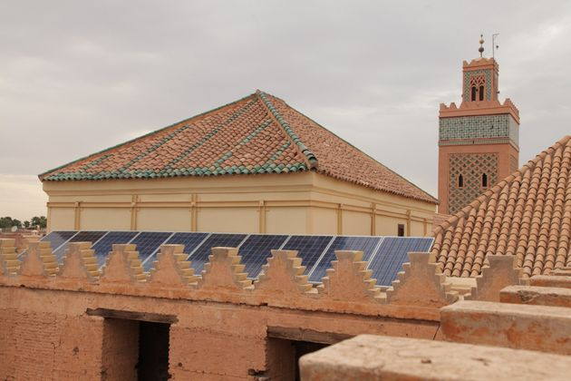 Solaranlage auf einer Moschee in Marokko: Schon bis zum Jahr 2020 sollen 42 Prozent der marokkanischen...