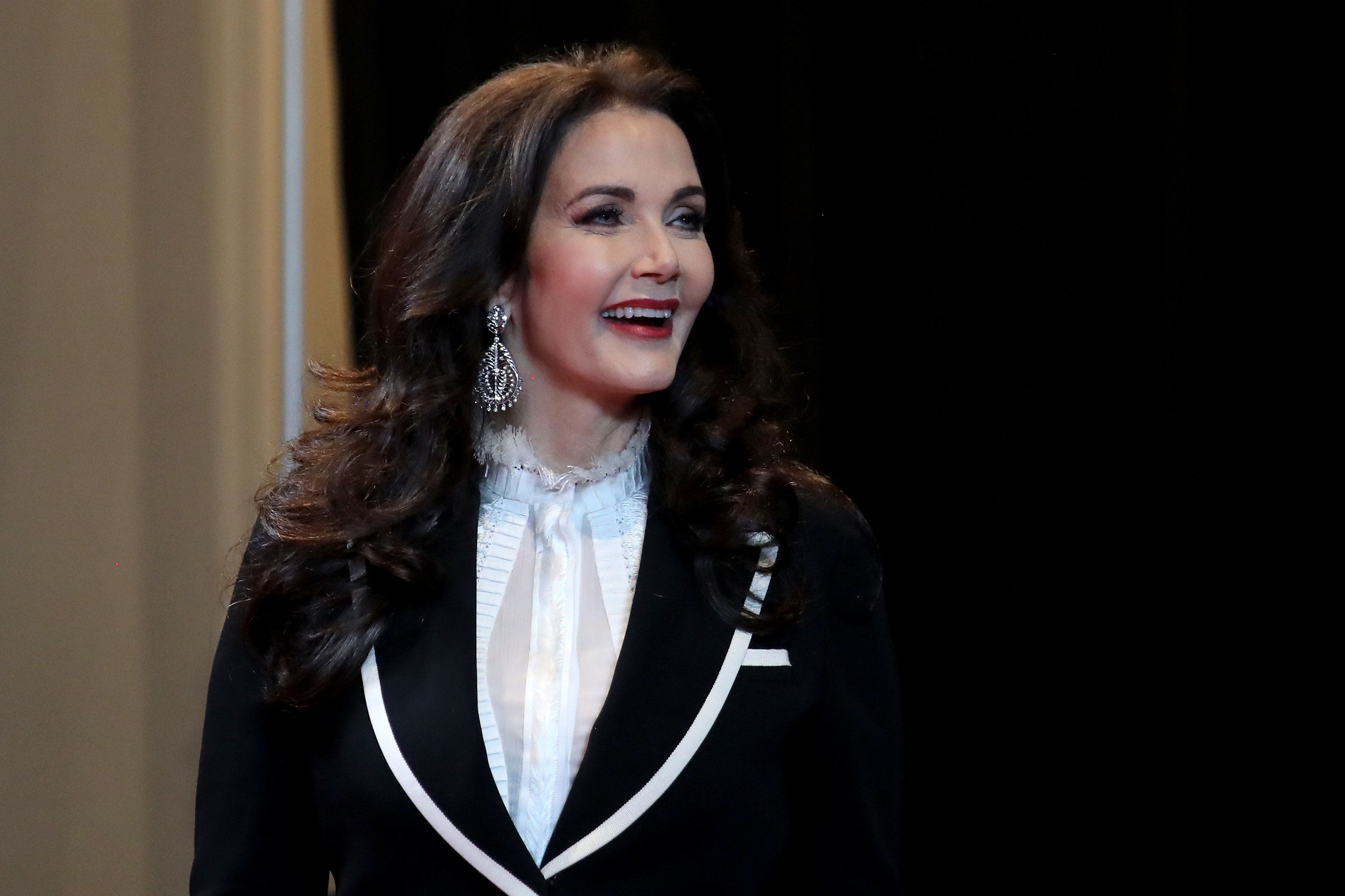 LAS VEGAS, NV - JUNE 20:  Actress Lynda Carter arrives at the 2018 NHL Awards presented by Hulu at the Hard Rock Hotel & Casino on June 20, 2018 in Las Vegas, Nevada.  (Photo by Bruce Bennett/Getty Images)