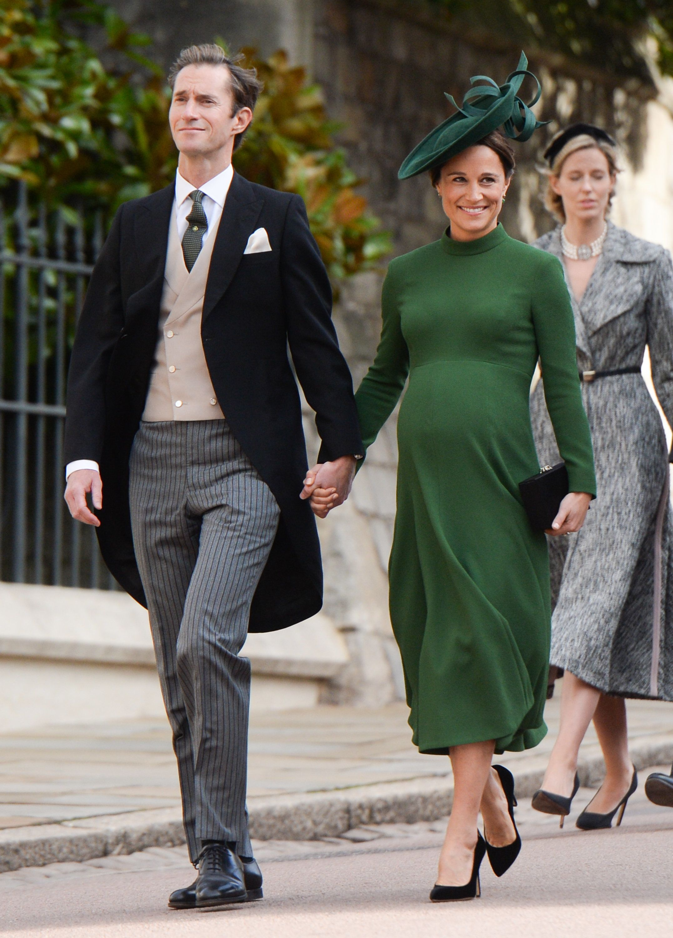 WINDSOR, ENGLAND - OCTOBER 12:  James Matthews and Pippa Middleton attend the wedding of Princess Eugenie of York and Jack Brooksbank at St George's Chapel in Windsor Castle on October 12, 2018 in Windsor, England.  (Photo by Pool/Samir Hussein/WireImage)
