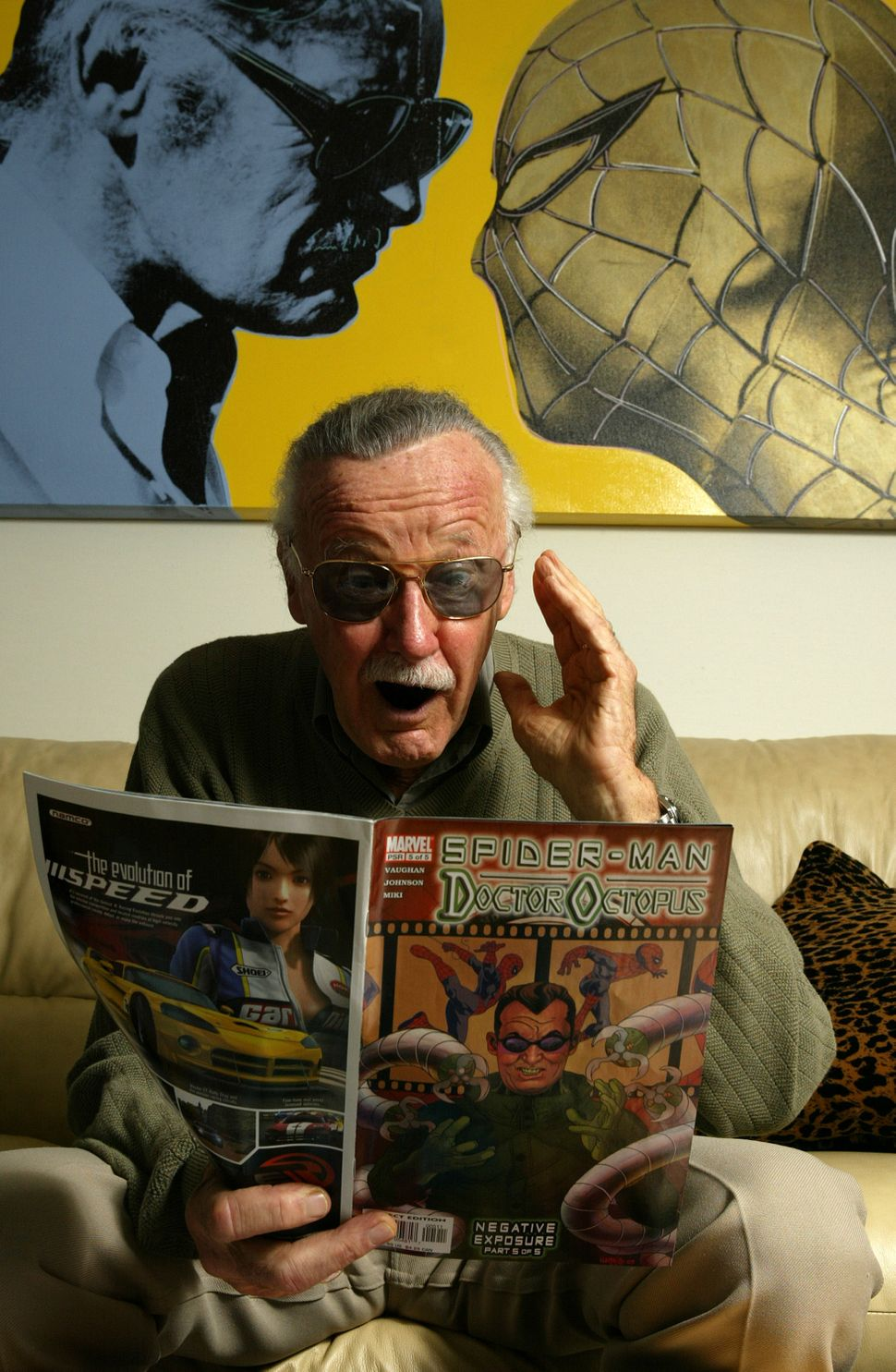 Spider-Man creator Stan Lee at his office on June 18, 2004, in Beverly Hills.