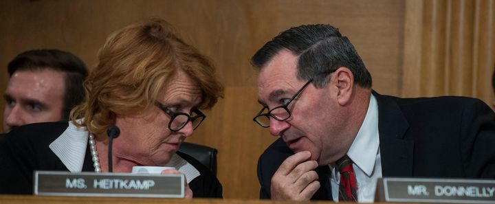 Sens. Heidi Heitkamp of North Dakota and Joe Donnelly of Indiana backed the banking industry bill. Last week, their constitue