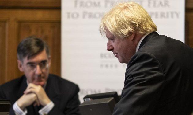 Jacob Rees-Mogg and Boris