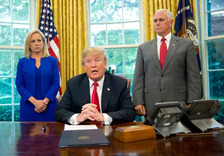 President Donald Trump has regularly lambasted Homeland Security Secretary Kirstjen Nielsen in front of other Cabinet members, unhappy with her work to implement his immigration policy.