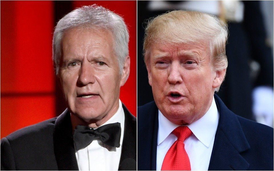 Alex Trebek and Donald Trump