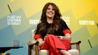 BEVERLY HILLS, CA - OCTOBER 09:  Contributing editor at Vanity Fair, Monica Lewinsky speaks onstage at Day 1 of the Vanity Fair New Establishment Summit 2018 at The Wallis Annenberg Center for the Performing Arts on October 9, 2018 in Beverly Hills, California.  (Photo by Matt Winkelmeyer/Getty Images)