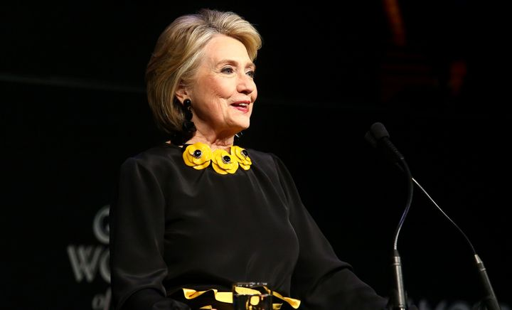 Hillary Clinton speaks at Glamour's Women of the Year awards on Monday.