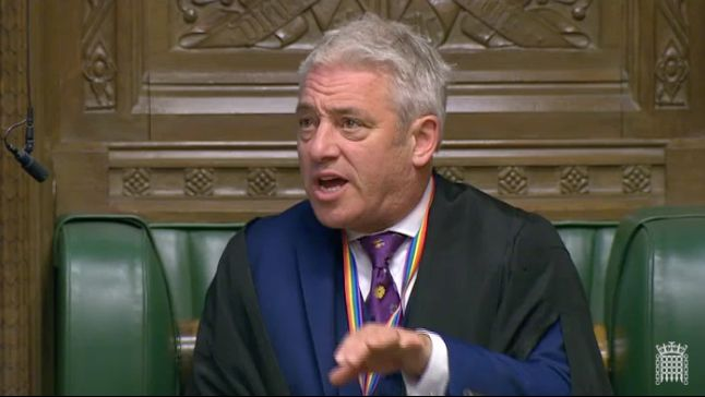 John Bercow Apologises For Imitating Ken Clarke In Discussion About