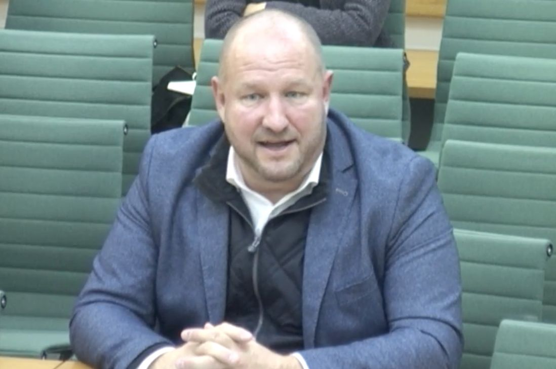 Lars Karlsson has given evidence to the Northern Ireland Affairs Committee in Parliament