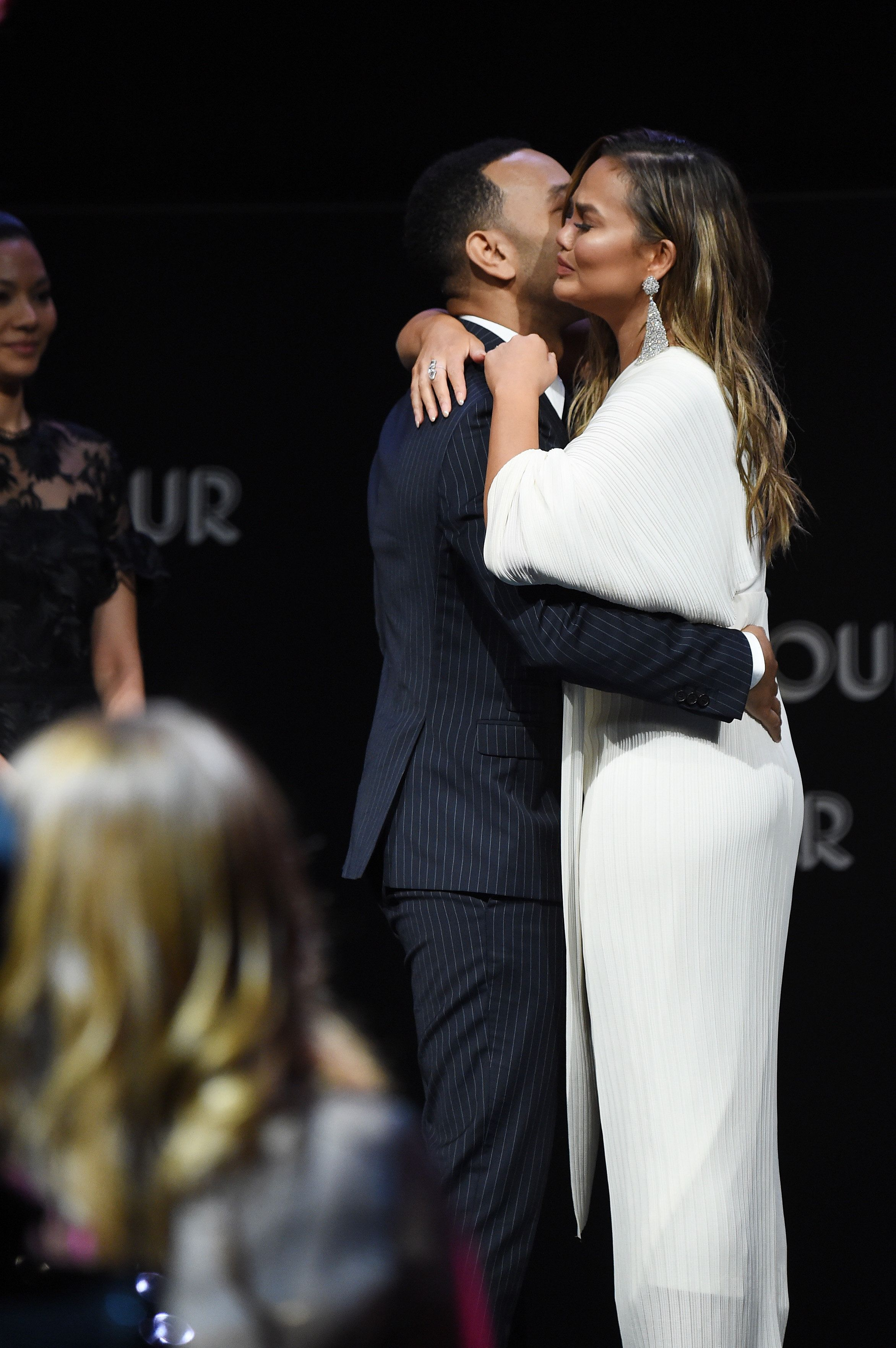 NEW YORK, NY - NOVEMBER 12:  John Legend introduces Chrissy Teigen onstage at the 2018 Glamour Women Of The Year Awards: Women Rise on November 12, 2018 in New York City.  (Photo by Jamie McCarthy/Getty Images for Glamour)