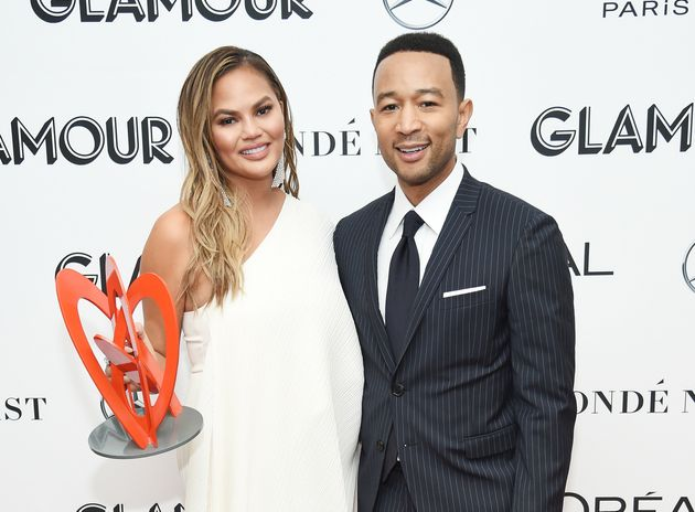 Chrissy Teigen and John Legend attend the2018 Glamour Women Of The Year Awards Monday night in...