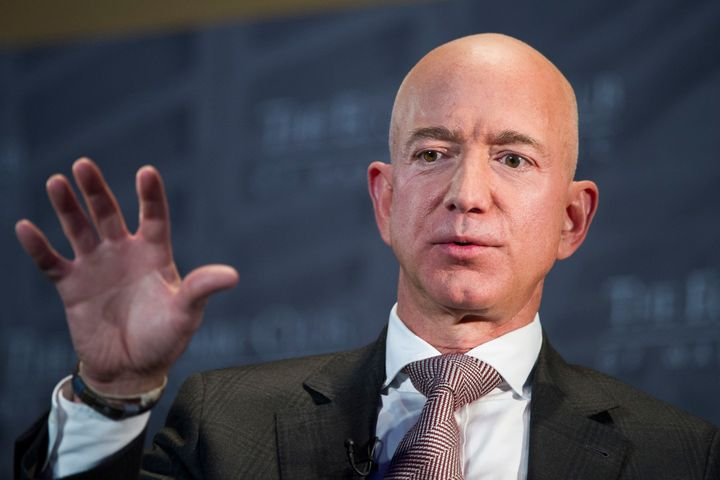 Jeff Bezos, Amazon founder and CEO, speaks at the Economic Club of Washington on Sept. 13, 2018. Elected officials in New York City signed a letter in 2017 inviting Bezos and Amazon to the city.