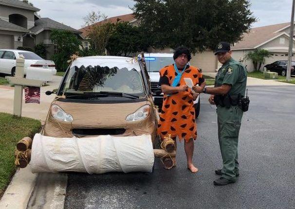 'Fred Flintstone' Arrested In Florida For Speeding In Prehistoric Smart