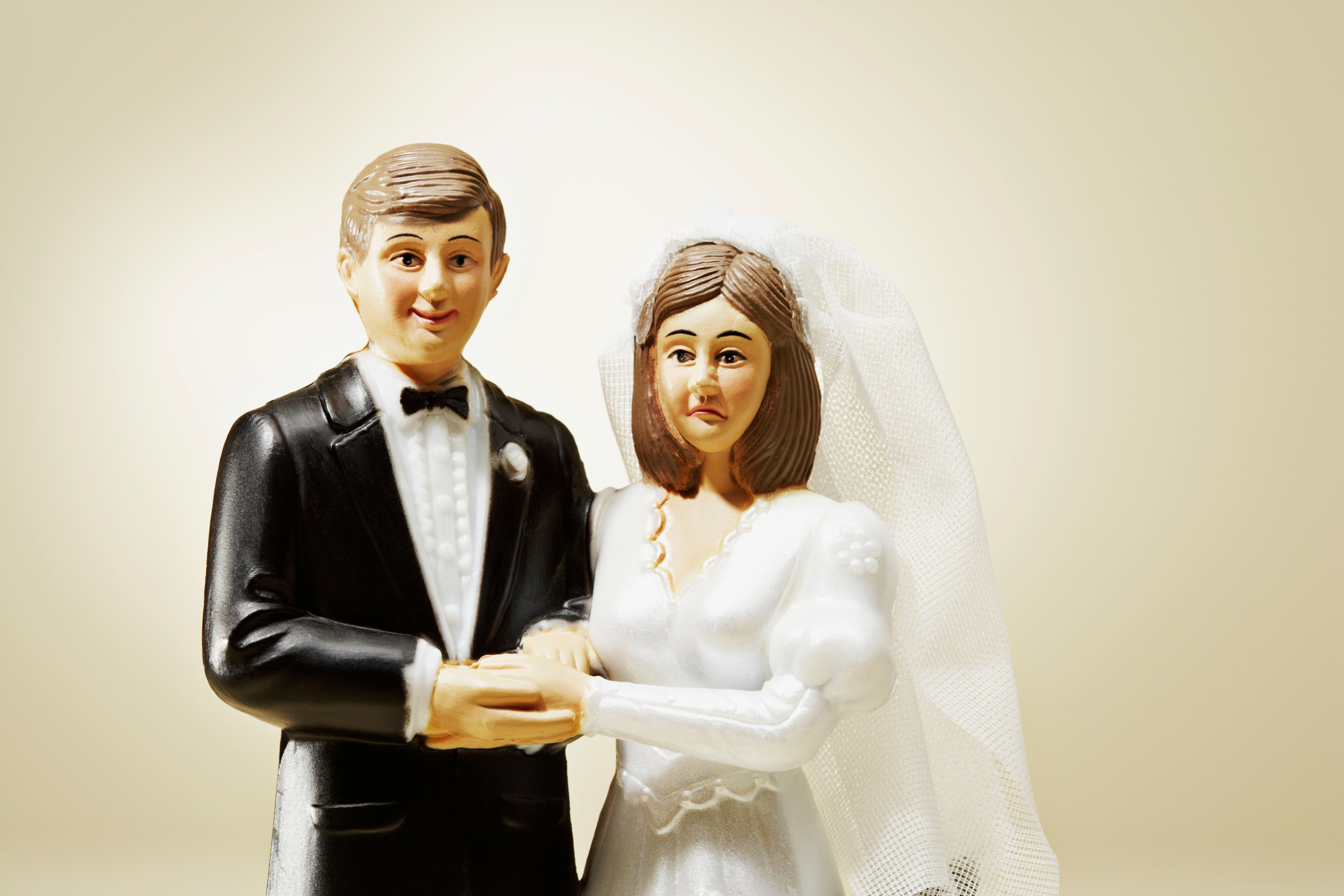 """""""Please stop talking."""" -- this bride and groom"""