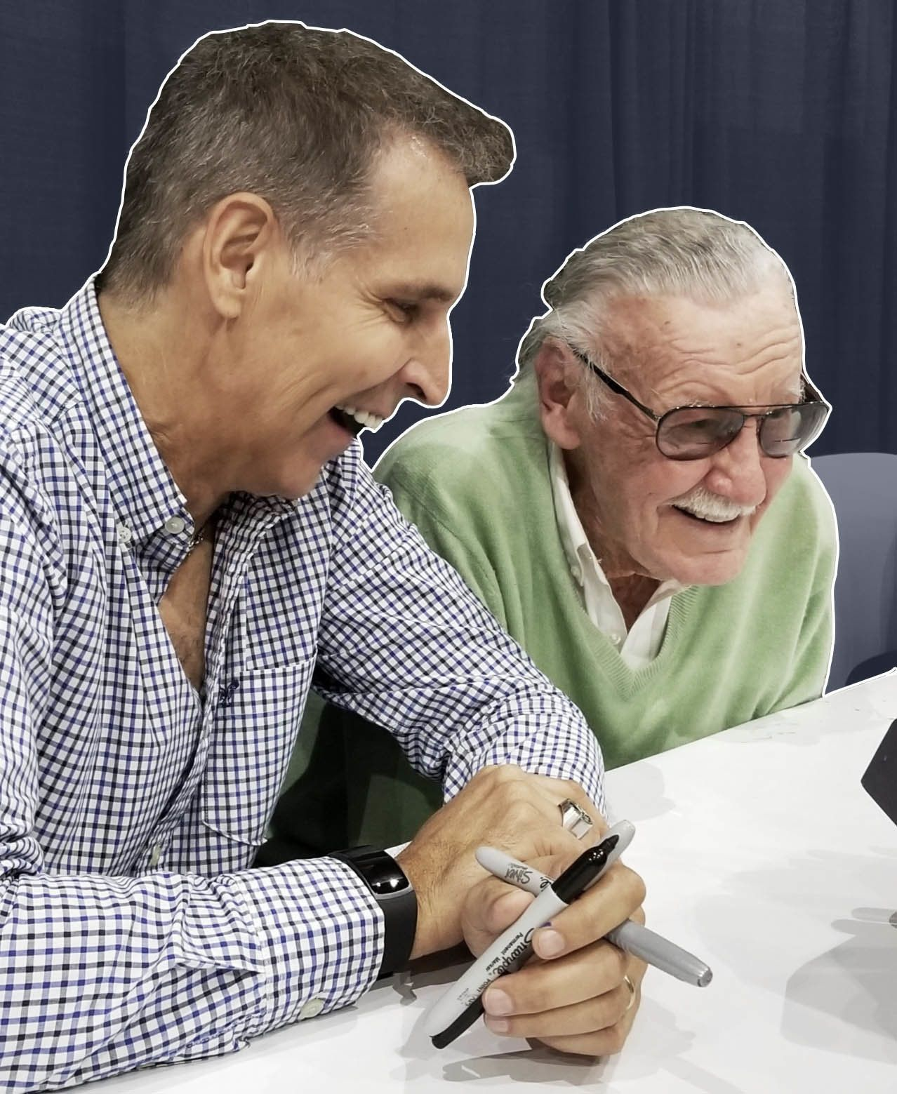 Todd McFarlane and Stan Lee worked together at Marvel.
